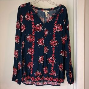 Matilda Jane Long Sleeve floral top